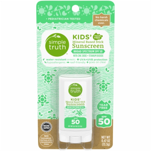 Simple Truth™ Kids' Mineral Based Sunscreen Stick SPF 50 Perspective: front