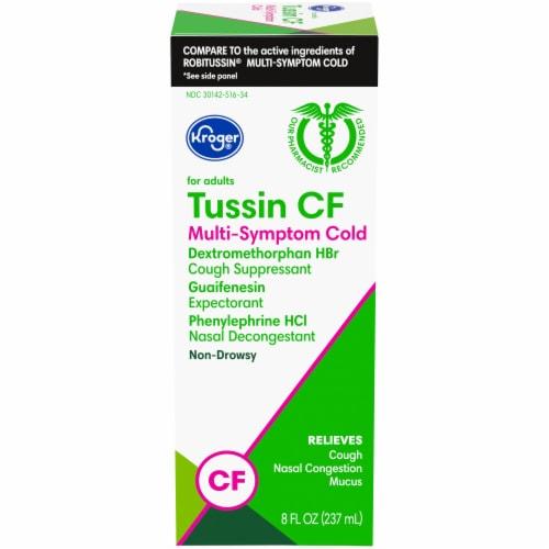 Kroger® Non-Drowsy Tussin CF Multi-Symptom Cold Liquid Medicine Perspective: front
