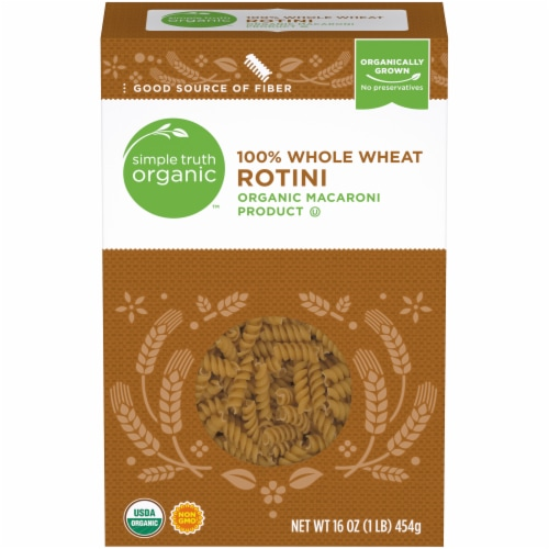 Simple Truth Organic™ 100% Whole Wheat Rotini Pasta Perspective: front