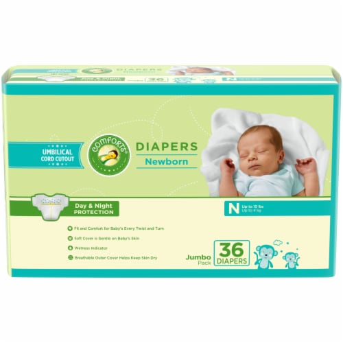 Comforts Newborn Diapers Perspective: front