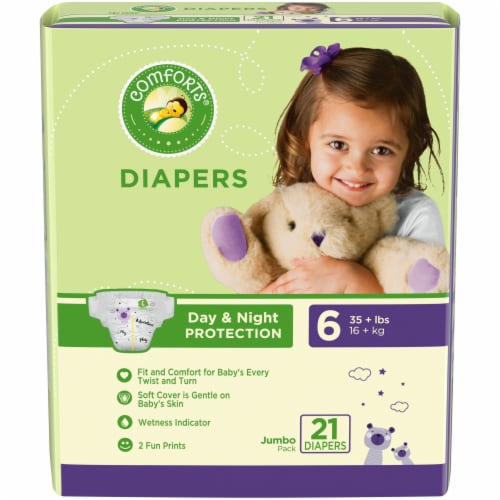 Comforts™ Day & Night Protection Size 6 Baby Diapers Jumbo Pack Perspective: front