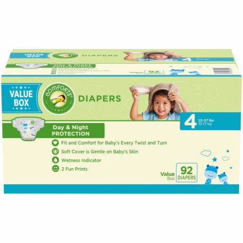 Comforts® Size 4 Diapers Perspective: front