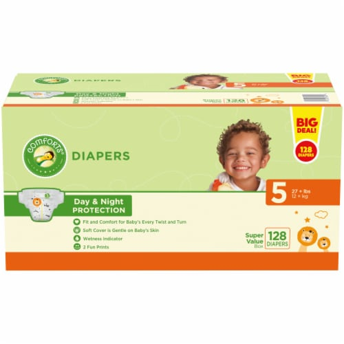 Comforts™ Day & Night Protection Size 5 Diapers Perspective: front