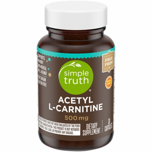 Simple Truth® Acetyl L-Carnitine Capsules 500mg Perspective: front