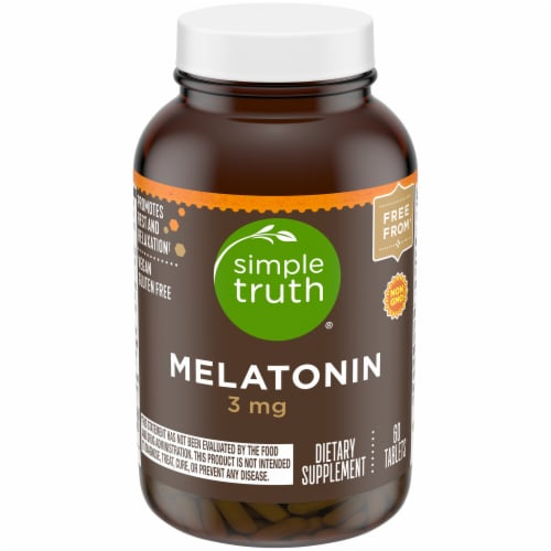 Simple Truth™ Melatonin Capsules 3mg Perspective: front