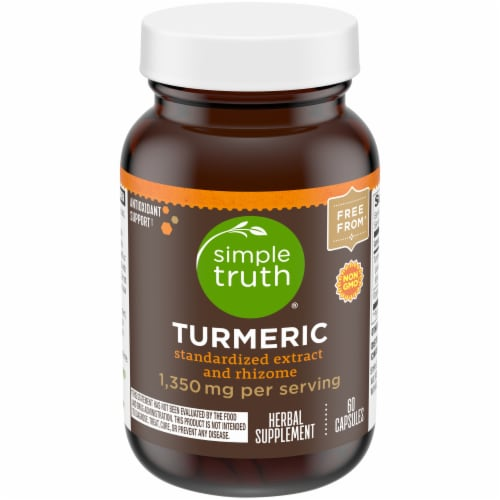 Simple Truth® Turmeric Herbal Supplement Capsules 1350mg Perspective: front