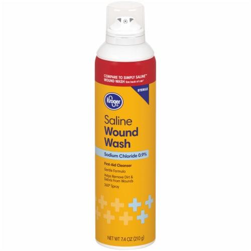 Kroger® Sterile Saline Wound Wash Perspective: front