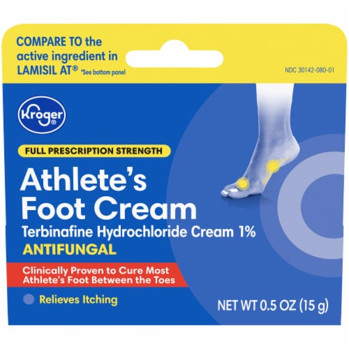 Kroger® Prescription Strength Athlete's Foot Antifungal Cream Perspective: front