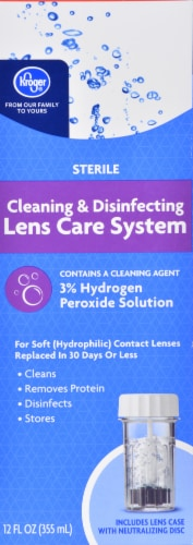 Kroger® Sterile Cleaning & Disinfecting Lens Care System Perspective: front