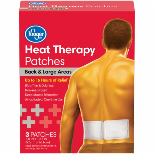Kroger® Back & Large Areas Heat Therapy Patches Perspective: front