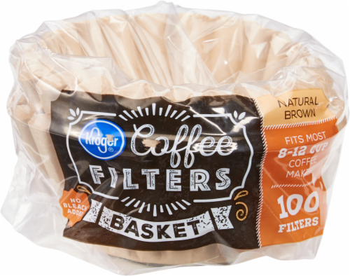 Kroger® Unbleached Basket Coffee Filters - Natural Brown Perspective: front