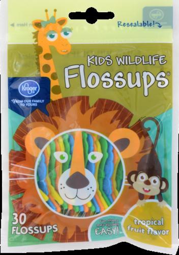 Kroger® Kids Wildlife Tropical Fruit Flavor Flossups Perspective: front