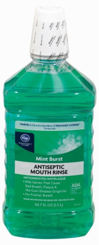 Kroger® Antiseptic Mint Burst Mouth Rinse Perspective: front