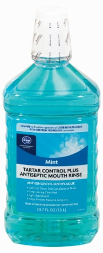 Kroger® Mint Tartar Control Plus Antiseptic Mouth Rinse Perspective: front
