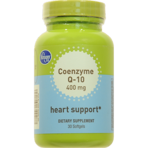 Kroger® Coenzyme Q-10 400 mg Heart Support Softgels Perspective: front