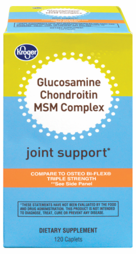 Kroger® Glucosamine Chondroitin & MSM Complex Joint Support Caplets Perspective: front