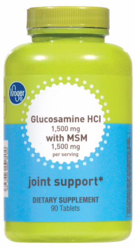Kroger® Glucosamine HCI with MSM Joint Support Tablets Perspective: front
