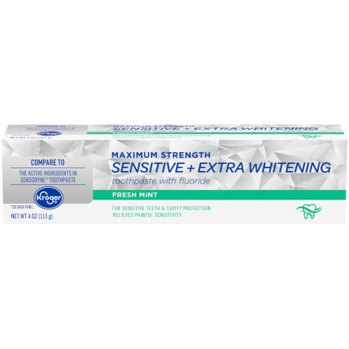 Kroger® Fresh Mint Sensitive Whitening Toothpaste Perspective: front