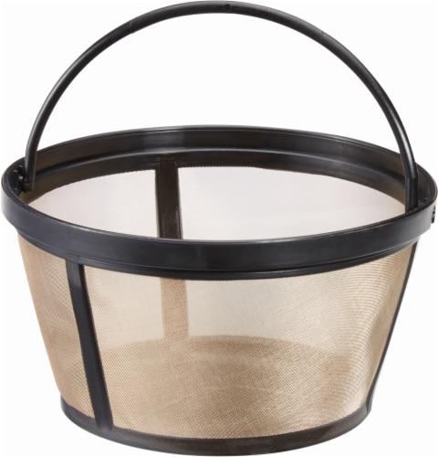 Kroger® Reusable® Coffee Filter Basket - Black/Gold Perspective: front