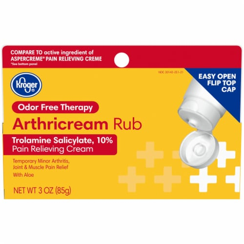 Kroger® Odor Free Arthricream Rub Pain Relieving Cream Perspective: front