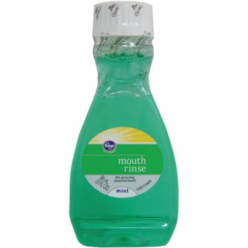 Kroger Travel Size Mint Mouth Rinse Perspective: front