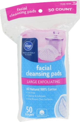 Kroger® Large Exfoliating Facial Cleansing Pads Perspective: front