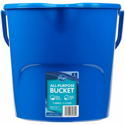 Kroger® All-Purpose Bucket - Blue Perspective: front