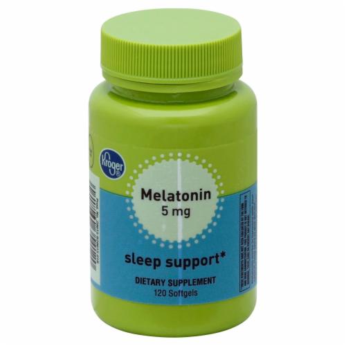 Kroger® Melatonin Sleep Support Softgels 5mg Perspective: front