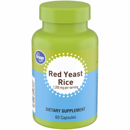 Kroger® Red Yeast Rice Capsules 1200mg Perspective: front