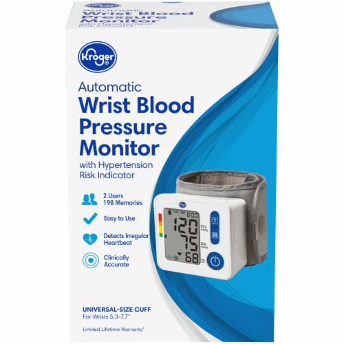 Kroger® Automatic Wrist Blood Pressure Monitor Perspective: front