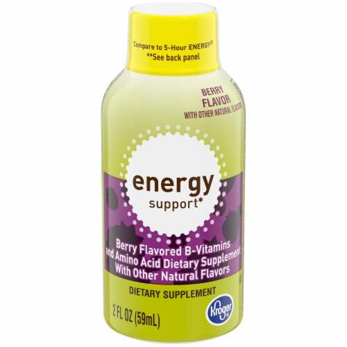 Kroger® Berry Energy Support Energy Drink Perspective: front
