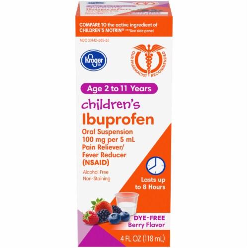 Kroger® Children's Ibuprofen Berry Flavor Oral Suspension Liquid Perspective: front