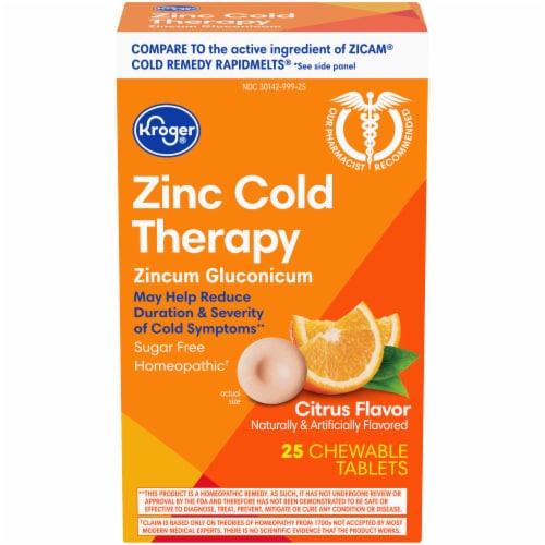 Kroger® Zinc Cold Therapy Citrus Flavor Quick Dissolve Tablets Perspective: front