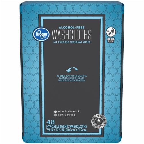 Kroger® Alcohol Free All Purpose Washcloths Perspective: front