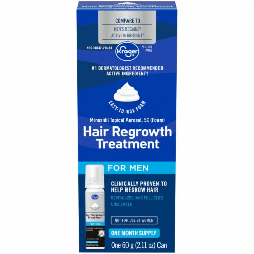 Kroger® Foam Hair Regrowth Treatment for Men Perspective: front