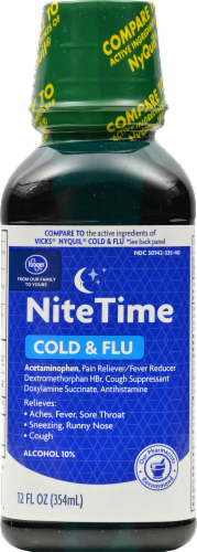 Kroger® Nighttime Cold & Flu Relief Liquid Perspective: front