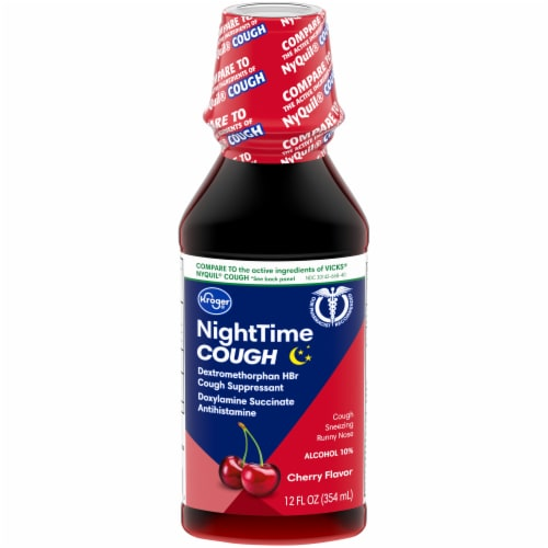 Kroger® Cherry Flavor Nite Time Cough Relief Liquid Perspective: front