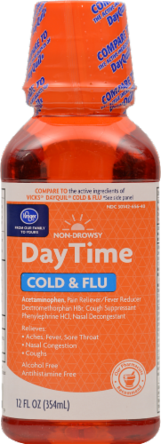 Kroger® Daytime Cold & Flu Relief Liquid Perspective: front