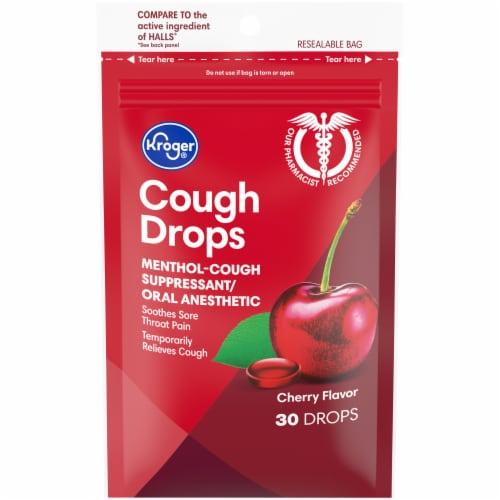 Kroger® Cherry Flavor Cough Drops Perspective: front