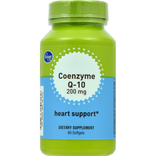 Kroger® Coenzyme Q-10 Heart Support Softgels 200mg Perspective: front