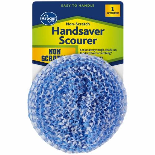 Kroger® Non-Scratch Handsaver Scourer - Blue/White Perspective: front