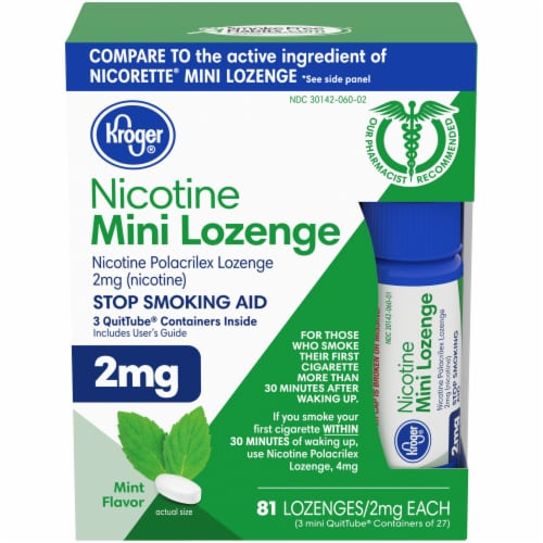 Kroger® Mint Mini Nicotine Lozenges 2mg Perspective: front