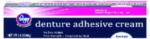 Kroger® Denture Adhesive Cream Perspective: front