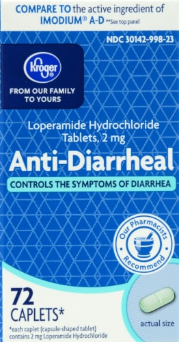 Kroger® Anti-Diarrheal 2mg Caplets Perspective: front
