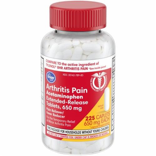 Kroger® Arthritis Pain Acetaminophen Extended-Release Caplets Bottle Perspective: front