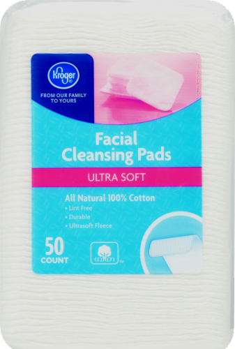 Kroger® Ultra Soft Facial Cleansing Pads Perspective: front