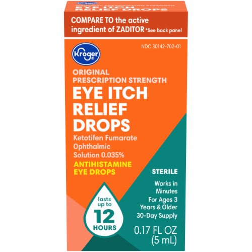 Kroger® Itch Relief Eye Drops Perspective: front