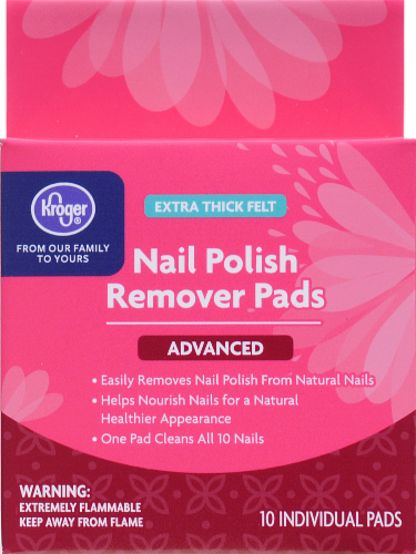 Kroger® Extra Thick Felt Advanced Nail Polish Remover Pads Perspective: front