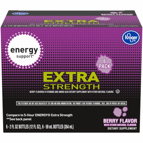 Kroger® Extra Strength Berry Flavored Energy Support Perspective: front