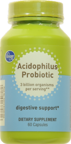 Kroger® Acidophilus Probiotic Digestive Support Capsules 60 Count Perspective: front